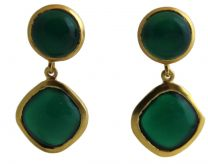 Dawn Green  Chalcedony Post Earrings