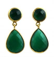 Ingrid Green  Chalcedony Post Earrings