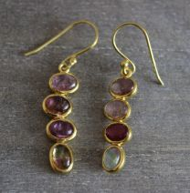 Tourmaline Oval Vermeil Drop Earrings