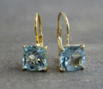 Blue Topaz Vermeil Leverback Earrings