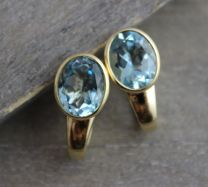 Blue Topaz Vermeil Leverbacks
