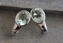 Prasiolite Sterling Silver Leverbacks
