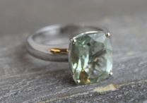 10x12mm Prasiolite Silver Ring
