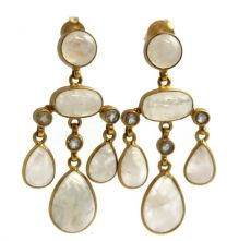 Selina Moonstone Chandelier  Earrings