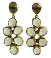 Ina Citrine Chandelier  Earrings