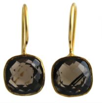 Iris Smoky Quartz Vermeil  Earrings
