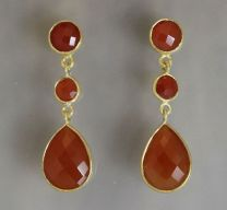 Mia Carnelian  Earrings