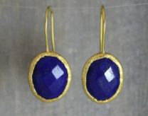 Lapis Lazuli Oval Vermeil Earrings