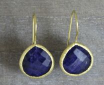Blue Sapphire Vermeil Earrings
