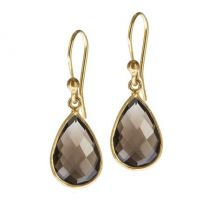 Lisa Smoky Quartz Drop Earwires